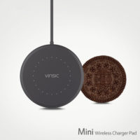 Vinsic Mini Беспроводное универсальное круглое зарядное устройство для Samsung, iPhone, Nokia, LG, Motorola
