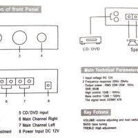 Автомобильный 2х канальный усилитель звука