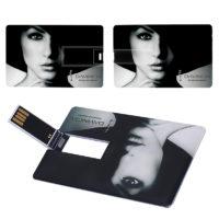 Флешка USB 2.0, от 4 до 128 ГБ в форме кредитной карты с фотографией/изображением/логотипом на заказ покупателя