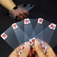 Прозрачные пластиковые карты для игры