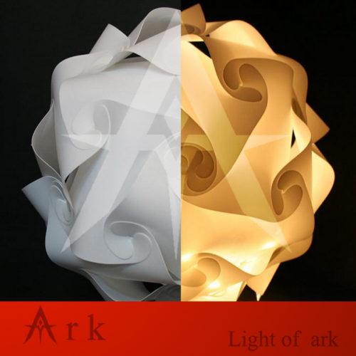 Пластиковый подвесной белый DIY светильник-абажур в виде шара из пластин 25/30/40 см