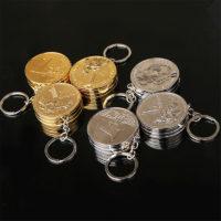 Газовая зажигалка-брелок в виде монеты