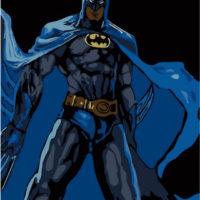 Картина раскраска по номерам Бэтмен
