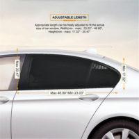 Защитные сетки на окна автомобиля 2 шт.