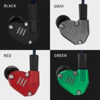 KZ ZS6 гибридные вакуумные стерео Hi-Fi наушники гарнитура с микрофоном