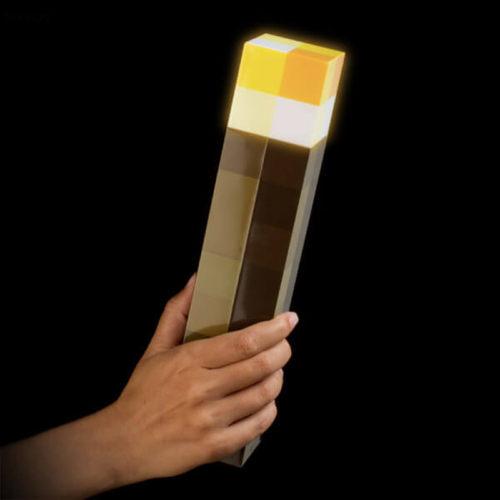 Светящийся факел фонарь Майнкрафт 28 см (можно использовать как ночник на стене)