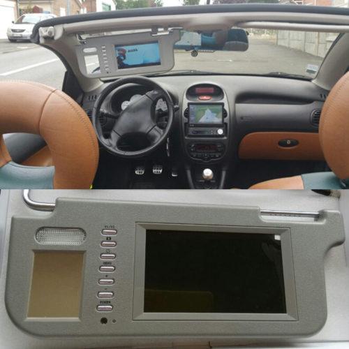 Солнцезащитный козырек с монитором для автомобиля