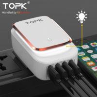 Светодиодное зарядное устройство-ночник на 4 USB порта
