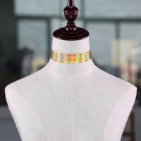 Голографический чокер украшение на шею