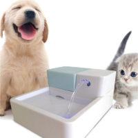 Питьевой фонтан-поилка со светодиодной подсветкой для домашних животных (собак, кошек)