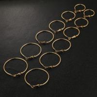 Круглые серьги-кольца золотого цвета 6 пар разного диаметра