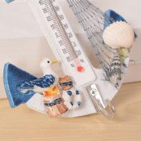 Комнатный термометр в виде якоря в морском стиле