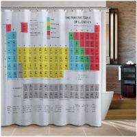 Штора для ванной Периодическая таблица элементов Менделеева