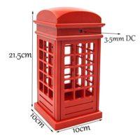 Настольный LED светильник ночник Красная Лондонская телефонная будка