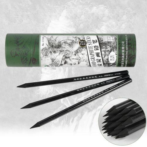 Угольные карандаши для рисования 24 шт.
