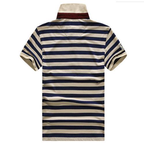Мужская футболка поло в крупную полоску