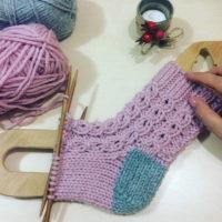 Блокатор шаблон для детских носков