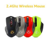 iMice Беспроводная оптическая компьютерная мышь со светодиодной подсветкой, 4 кнопки