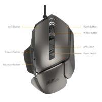 James Donkey 007 Проводная лазерная игровая компьютерная мышь с подсветкой 8200 точек на дюйм