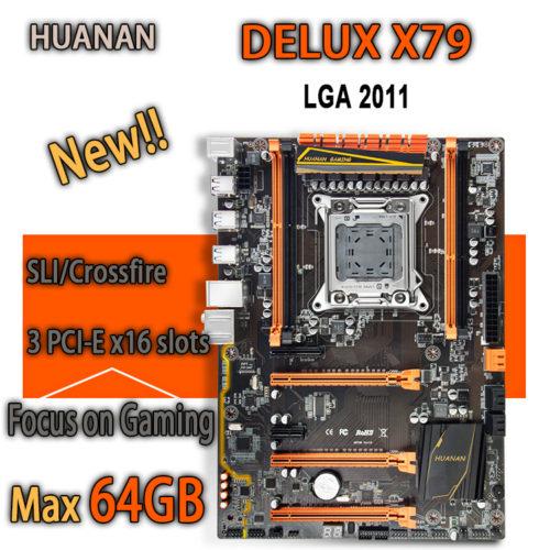 HUANAN golden Deluxe X79 игровая материнская плата intel LGA 2011