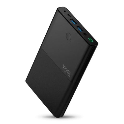 Vinsic notebook Power Bank портативное зарядное внешнее устройство на 30000 мАч для ноутбука или телефона