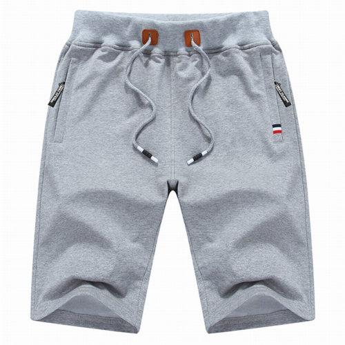 Мужские летние шорты-бордшорты до колен с завязками и карманами