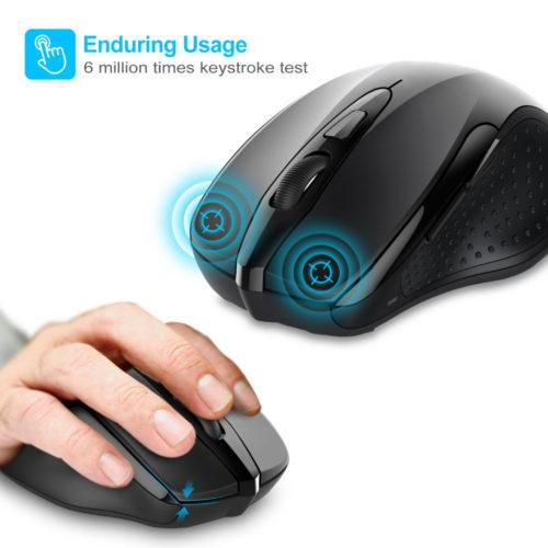 TeckNet Pro Беспроводная компьютерная мышь с 5 режимами DPI, 6 кнопок