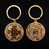 Брелок для ключей с монетой Биткоин