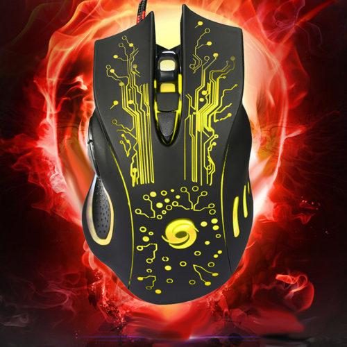 VAKIND Профессиональная проводная компьютерная игровая 6D мышь с подсветкой, 6 кнопок, 3200 Точек на дюйм