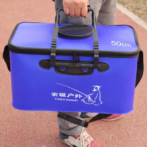 Складная сумка-ведро для рыбалки