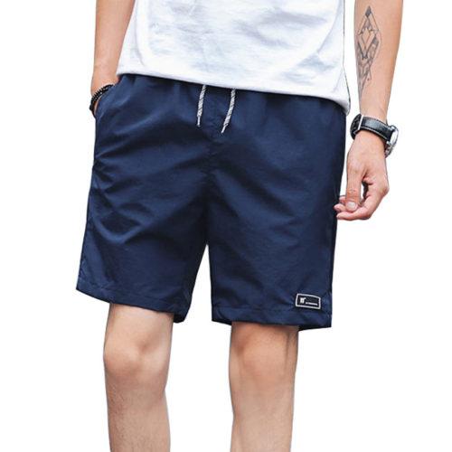 Мужские однотонные летние легкие пляжные шорты