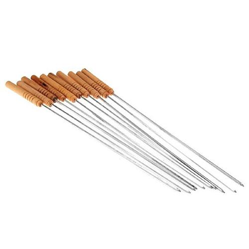Набор шампуров с деревянными ручками 10 шт.