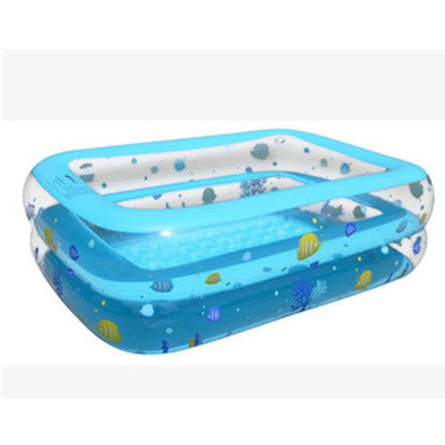 Надувной прямоугольный детский бассейн 130x90x40 см