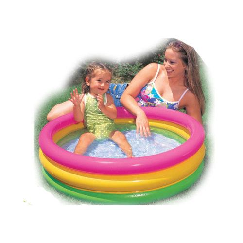 Intex Детский надувной бассейн с мягким надувным дном 34, 68, 136, 335 или 617 л