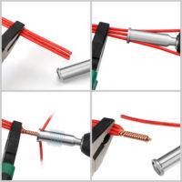 Насадка для шуруповерта для скрутки проводов с автоматической зачисткой