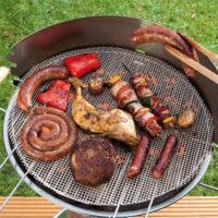 Прямоугольные и круглые сетки для мангала для овощей и мяса