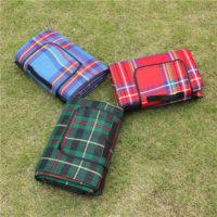 Туристический водонепроницаемый коврик-плед для пикника