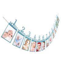 Баннер для 12 фотографий каждого месяца первого года ребенка