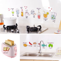 Декоративные наклейки (еда, фрукты) на кухню, холодильник