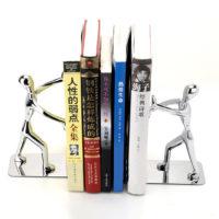 Оригинальные настольные металлические подставки-держатели для книг в виде человека с вытянутыми руками