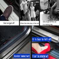 Защитные наклейки на пороги авто