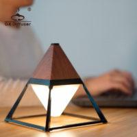 GX.Diffuser Водонепроницаемый светодиодный настенный/настольный сенсорный светильник пирамида
