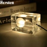 Необычный настольный светильник Лампочка во льду