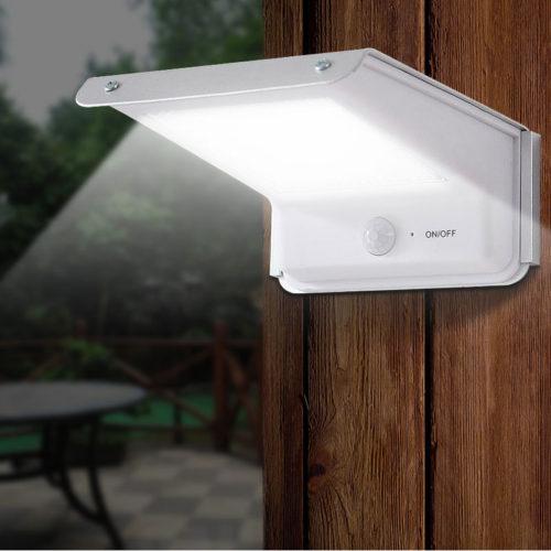 Светодиодная лампа на солнечной батарее с датчиком движения