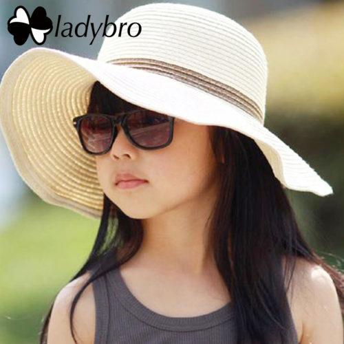 Шляпа пляжная женская и детская с широкими полями
