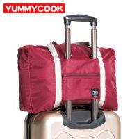 Дорожная складная сумка на ручку чемодана