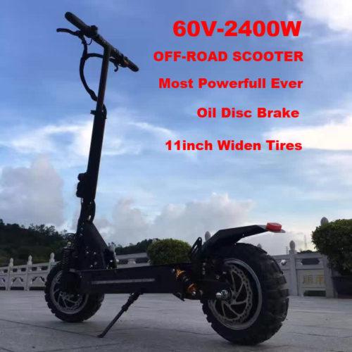 Мощный электроскутер 2400W (разгоняется до 70 км/ч)