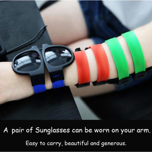 Складные мужские очки браслет на руку