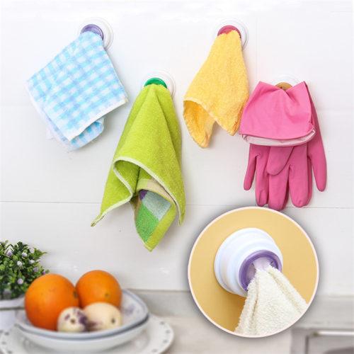 Присоска держатель для полотенца в ванную