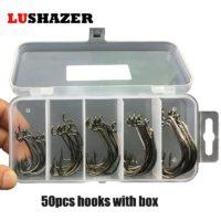 Офсетники в пластиковом боксе от LUSHAZER, 50 шт/лот, 5 размеров